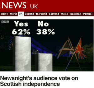 Newsnight Yes Scotland wins