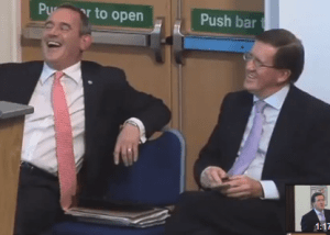 Hosie and Robertson react differently to the Yes victory