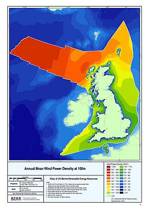 Annual Mean Wind Power 100m
