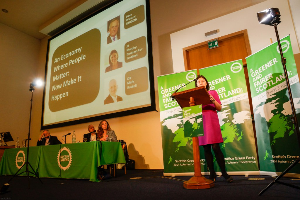 Jil Murphy addresses the Green Party Conference