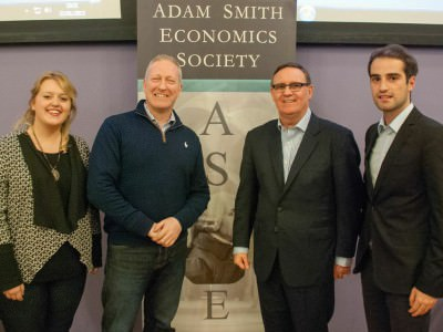 Business for Scotland founder and Lord Haughey talk at University event