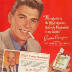 Ronald Regan favoured advertising rather than explaining policies.