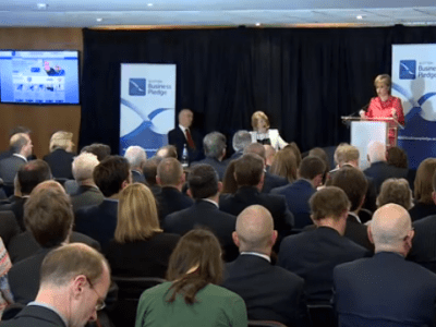 A pledge to grow Scotland's economy and a challenge to Westminster