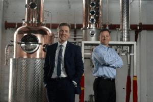 Ian McDougall and Liam Hughes of the Glasgow Distillery