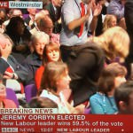TV images show Labour conflicted over Corbyn victory