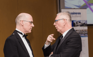 Deputy FM John Swinney and Richard Walker