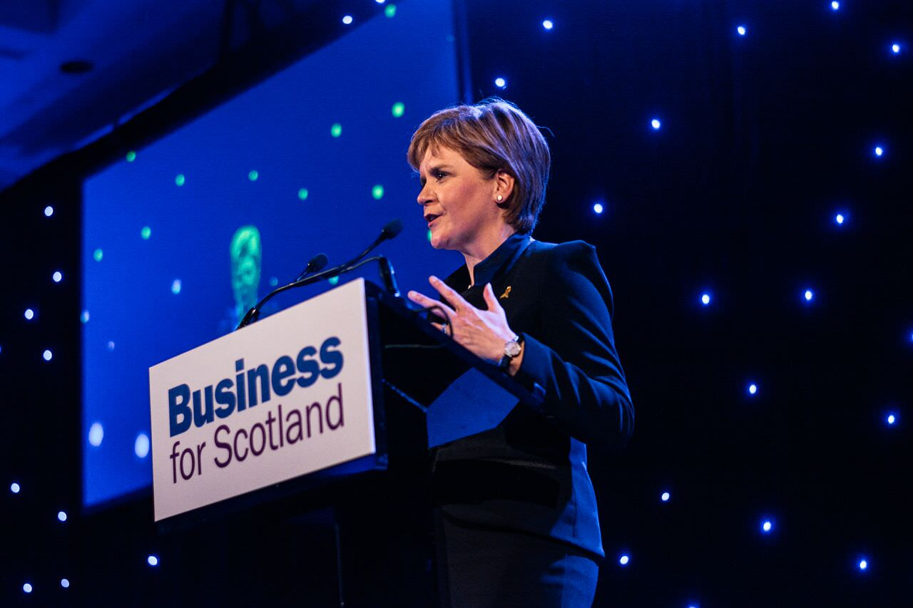 Nicola Sturgeon, Business for Scotland annual dinner 2016