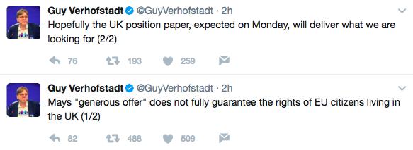 Guy Verhofstadt, Brexit, EU citizens